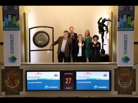 ArcelorMittal sounds gong as winner Euronext Amsterdam Best Performer AEX 2016