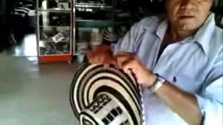Tecnica de como se dobla un sombrero vueltiao