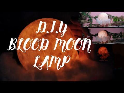 DIY 3D Moon Lamp | Tissue Paper Craft | Easy DIY | GlaDIYna VLog#4