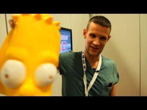 MATT SMITH Walks Comic-Con Floor Disguised as Bart Simpson - San Diego 2013