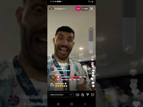 Aguero goes live after winning Copa america