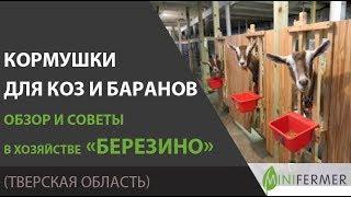 """Кормушки для коз и баранов. Советы из хозяйства """"Березино""""."""