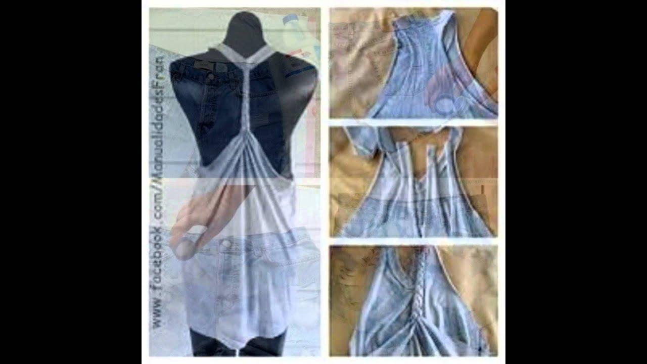 Ideas para reciclar tu ropa vieja youtube for Ideas para disenar ropa