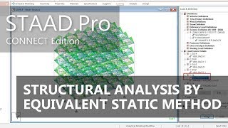 STAAD Pro CONNECT Edition Structural Analysis By Equivalent Static Method