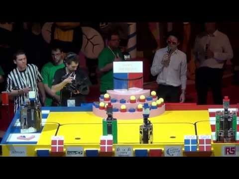2013 - Finale n°2/3 - Université d'Angers 96 vs 84 RCVA - Coupe de France de robotique 2013