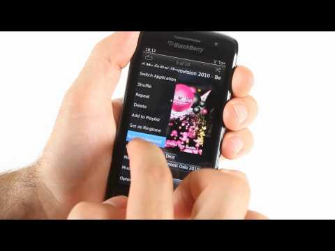 BlackBerry Torch 9860 unboxing and UI demo
