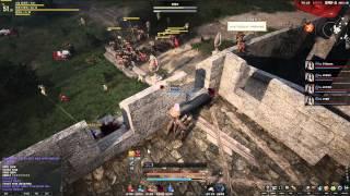 Black Desert Online GvG PvP Castle Siege Defending Part 2 HD