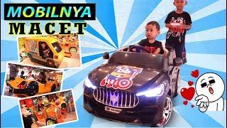 Naik Mobil Mobilan Seru Banget Bonus Main Bola Basket | Praya Brother |