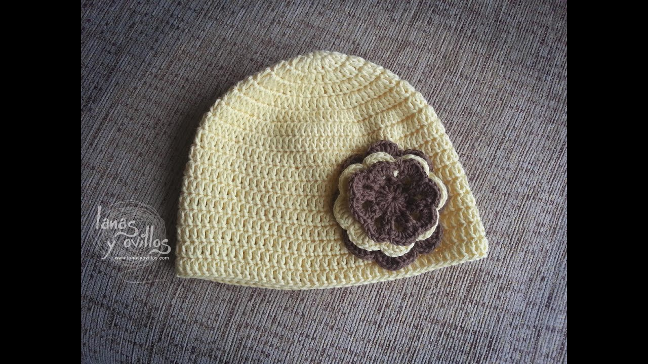 Tutorial Gorro Crochet o Ganchillo Fácil Paso a Paso (English ...