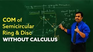 Physics for JEE: COM of Semicircular Ring & Disc : Pappus Theorem by  Prof. Sumit Upmanyu