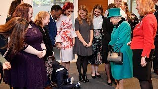 Boy so overwhelmed that he crawls away from meeting the Queen