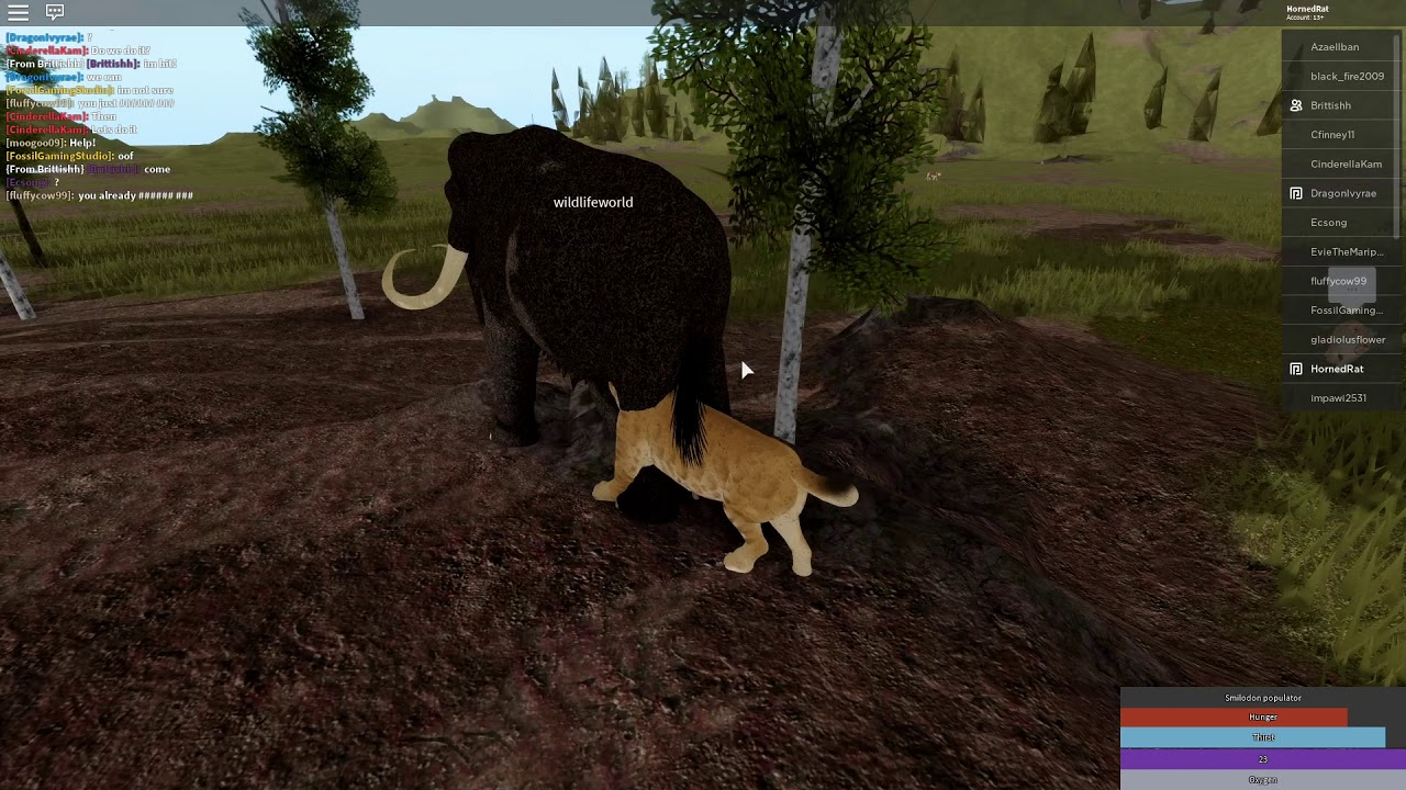 Roblox Saber Tooth Tiger Cenozoic Survival Wild Animals Roblox Cenozoic Survival Beta Smilodon Gameplay Youtube