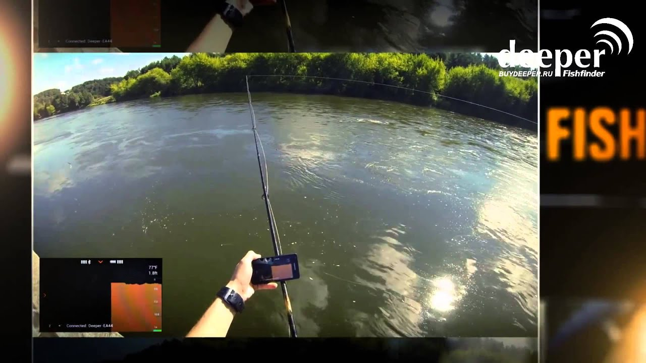 Портативный эхолот - deeper smart fishfinder - youtube, Fish Finder