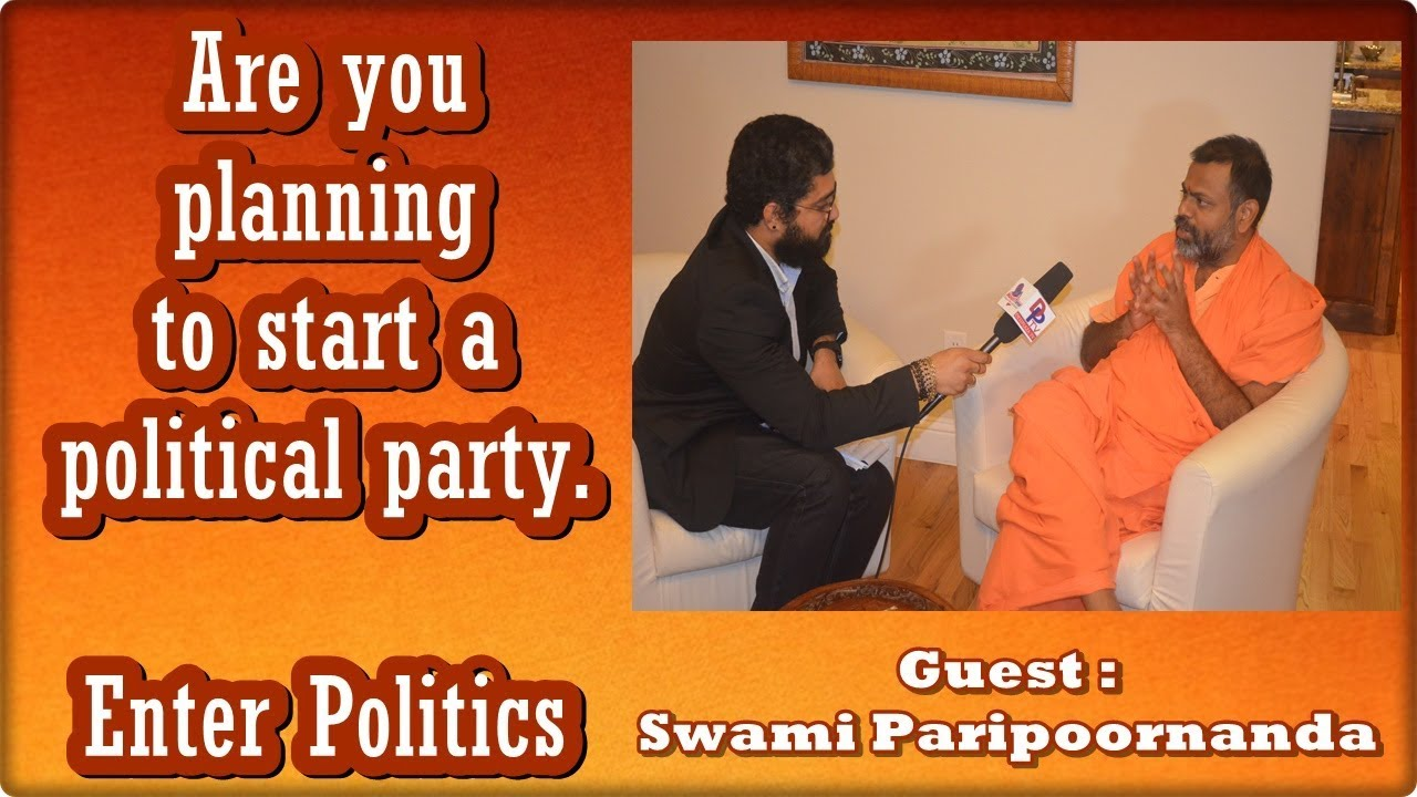 Swami Paripoornanda entering Politics ? - Host Madhav DESIPLAZA TV