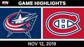NHL Highlights   Blue Jackets vs. Canadiens – Nov. 12, 2019