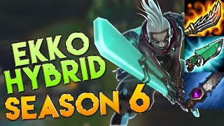 AP/Hybrid Ekko Jungle Season 6 Gameplay - League of Legends LoL Ekko Season 6