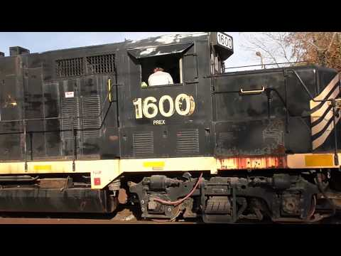 Diamond to Diamond chasing a RS5T and some Geep switching Elkhart and Western Railroad