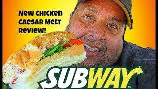 SUBWAY® Chicken Caesar Melt REVIEW!