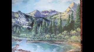 Горный пейзаж по уроку Кевина Хилла