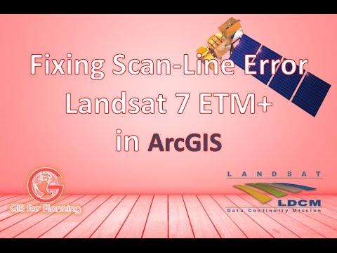Fixing Landsat 7 ETM+ Scanline Error with ArcGIS