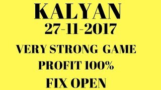 27 November 2017 kalyan matka bazaar Free game