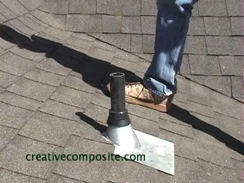 Roof Repair On Plumbing Vent Pipe Youtube
