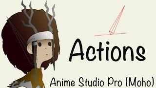 Anime Studio Pro (Moho Pro): Как написать действие (Actions) на кость для слоя группа, переключатель