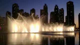 Dubai Fountain at Dubai Mall and Burj Khalifa - Video by DubaiTravelator.com