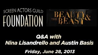 Conversations with Nina Lisandrello and Austin Basis of BEAUTY AND THE BEAST
