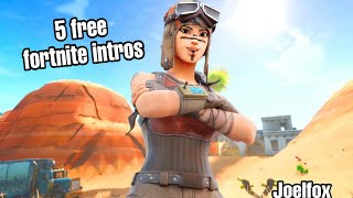 TOP 5 FORTNITE INTROS! pas de texte - Gratuit