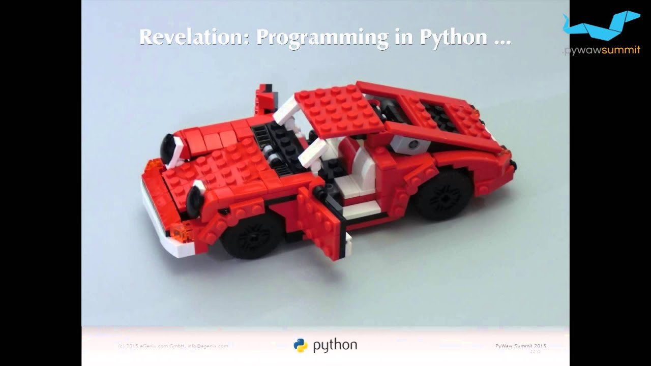 Image from The Python Community - Present, Past and Future