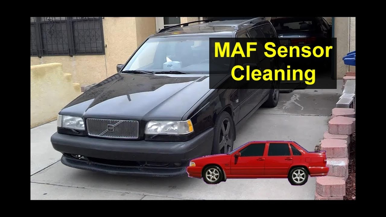 How to clean or replace the mass air flow sensor, MAF, Error code P103 - VOTD - YouTube