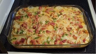 Scalloped Potatoes with Ham and Cheese - E220