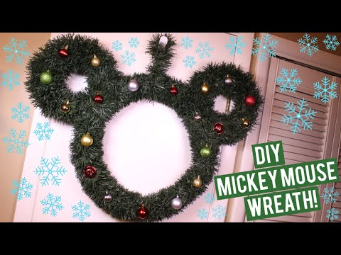 DIY Mickey Mouse Wreath ♡ - YouTube