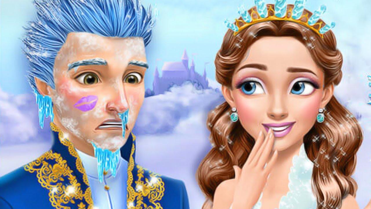 Princesa Gloria Salón De Hielo Congelada Belleza Maquillaje Jugar Vestir Colores Juegos De Niñas