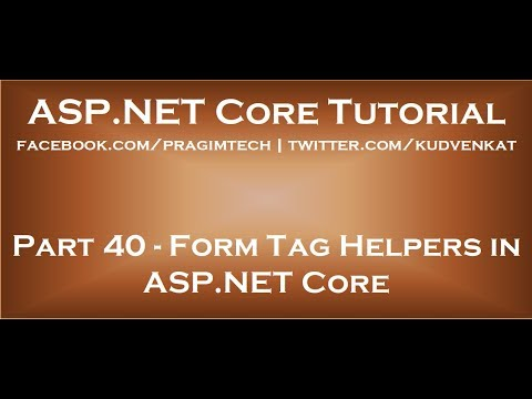 Form Tag Helpers In Asp Net Core