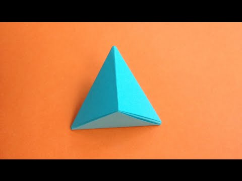 how to make a paper pyramid youtube