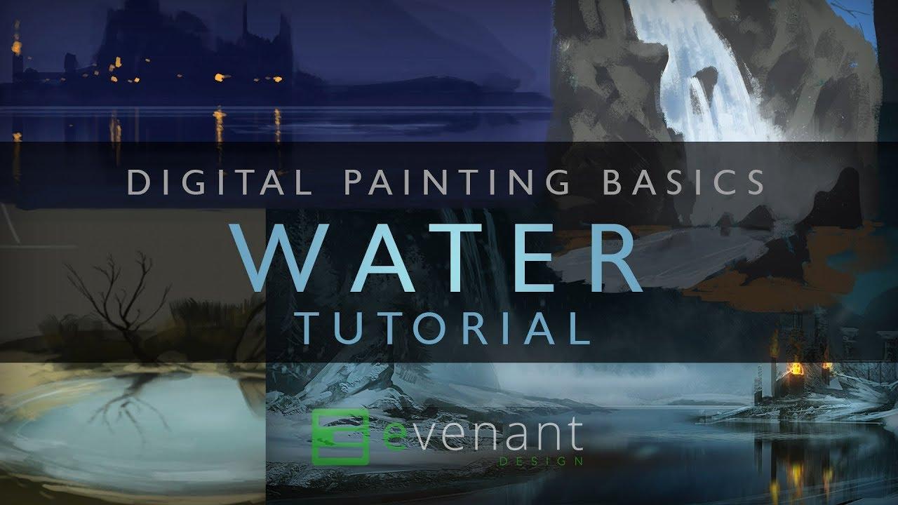 Tutorial speedpaint how to do water. Youtube.