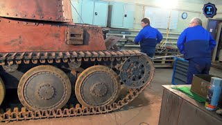 Реставраторы. Танк Прага. Часть 2(Мастерам предстоит отремонтировать ходовую и привести в порядок внешний вид танка