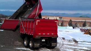 Pup trailer dumping
