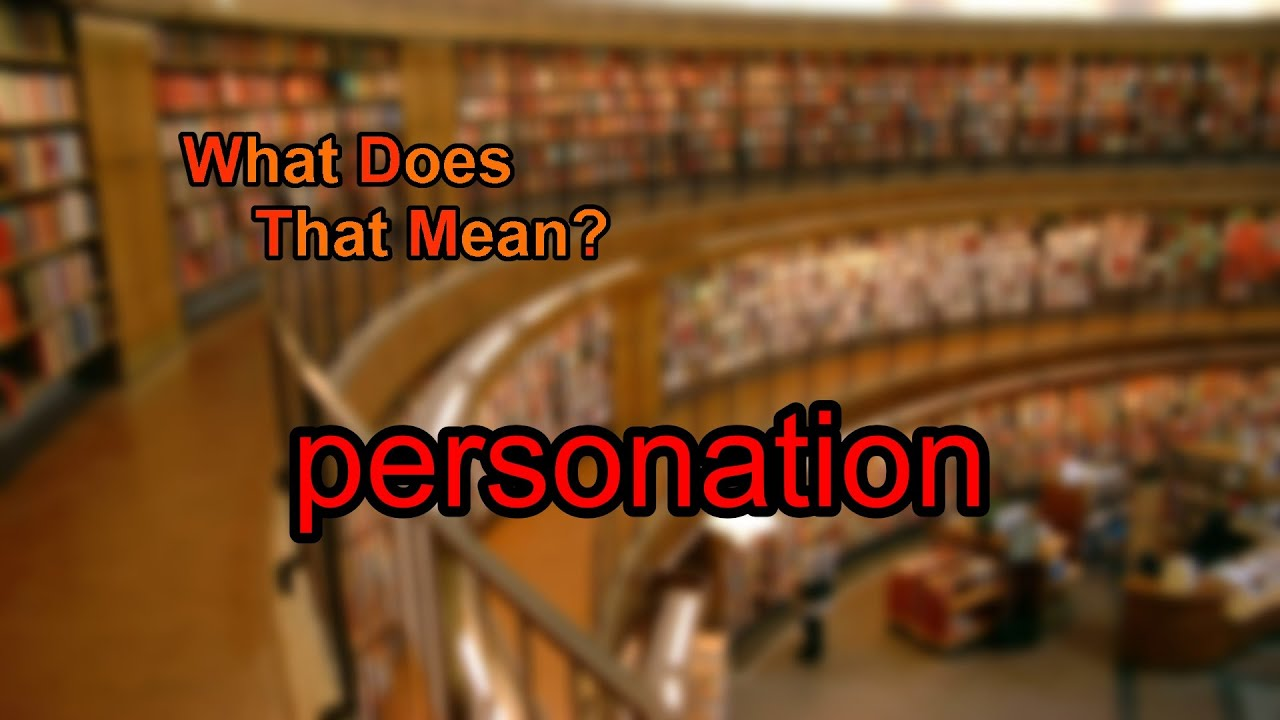 what is personation