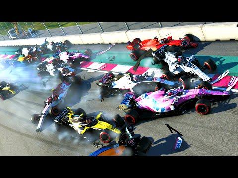 SURVIVE FORMULA NASCAR & EXTREME HARDCORE DAMAGE MOD! F1 2020 |