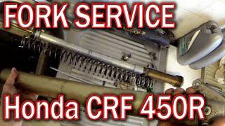 HONDA CRF 450 R front fork rebuild - SHOWA
