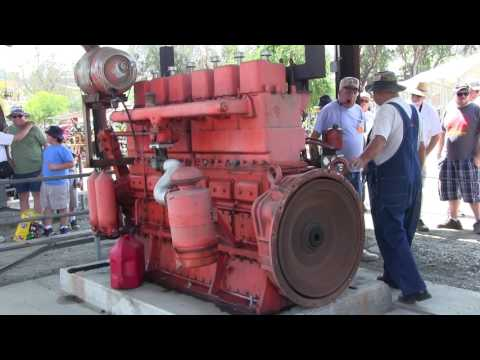 Pony Motor Starting A Huge 2894 Cubic Inch Waukesha Gasoline Engine At Vista, CA 6-24-17