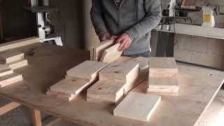[목공 / Woodworking] 편백 평상 침대 만들기 / Making A Bed From Hinoki Cypress