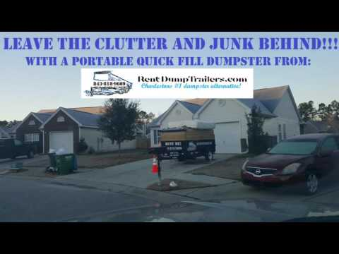 Upcoming Move Leave The Trash Behind With Rentdumptrailers Com Charlestons Quick Fill Du