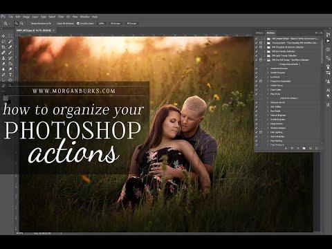 Organizing Photoshop Actions