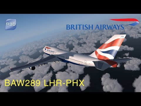 Prepar3d v3.4 British Airways 289 London - Phoenix
