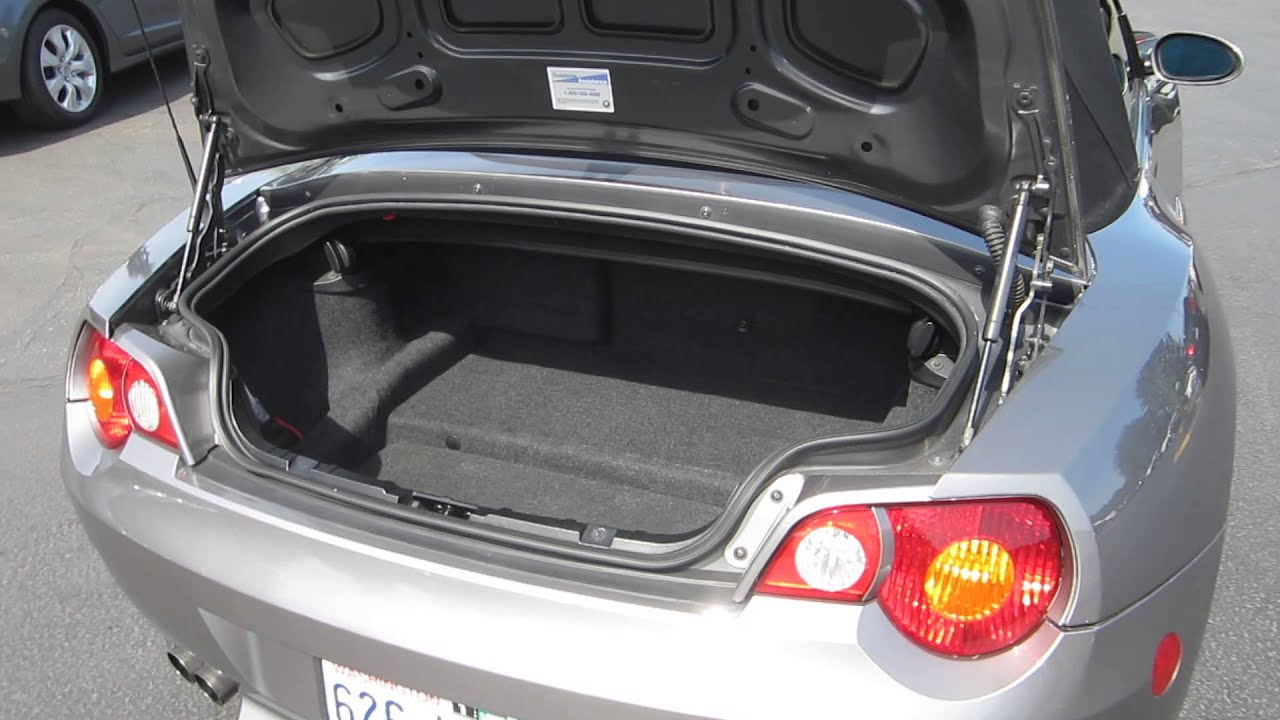 2003 Bmw Z4 Gray Stock 131386a Trunk Youtube