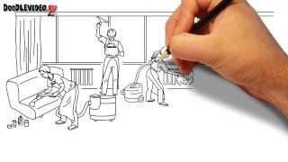Эффективная реклама - рисованное Дудл Видео для клининговых компаний(Создание суперконверсионных рисованных дудл видео для бизнеса. Узнайте стоимость и детальный просчет..., 2014-11-12T04:18:34.000Z)